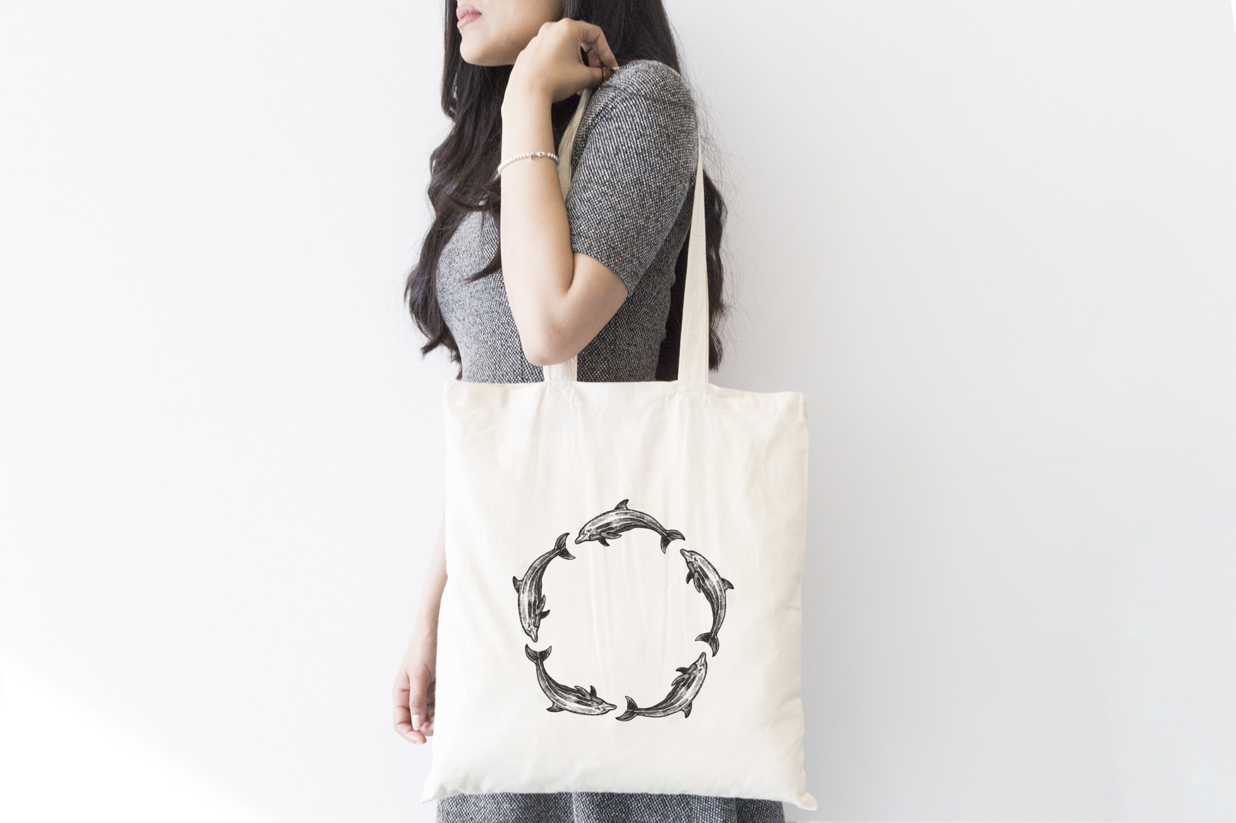 INT9369 Plastic Free July_Tote Bag-Designs_dolphin FA2