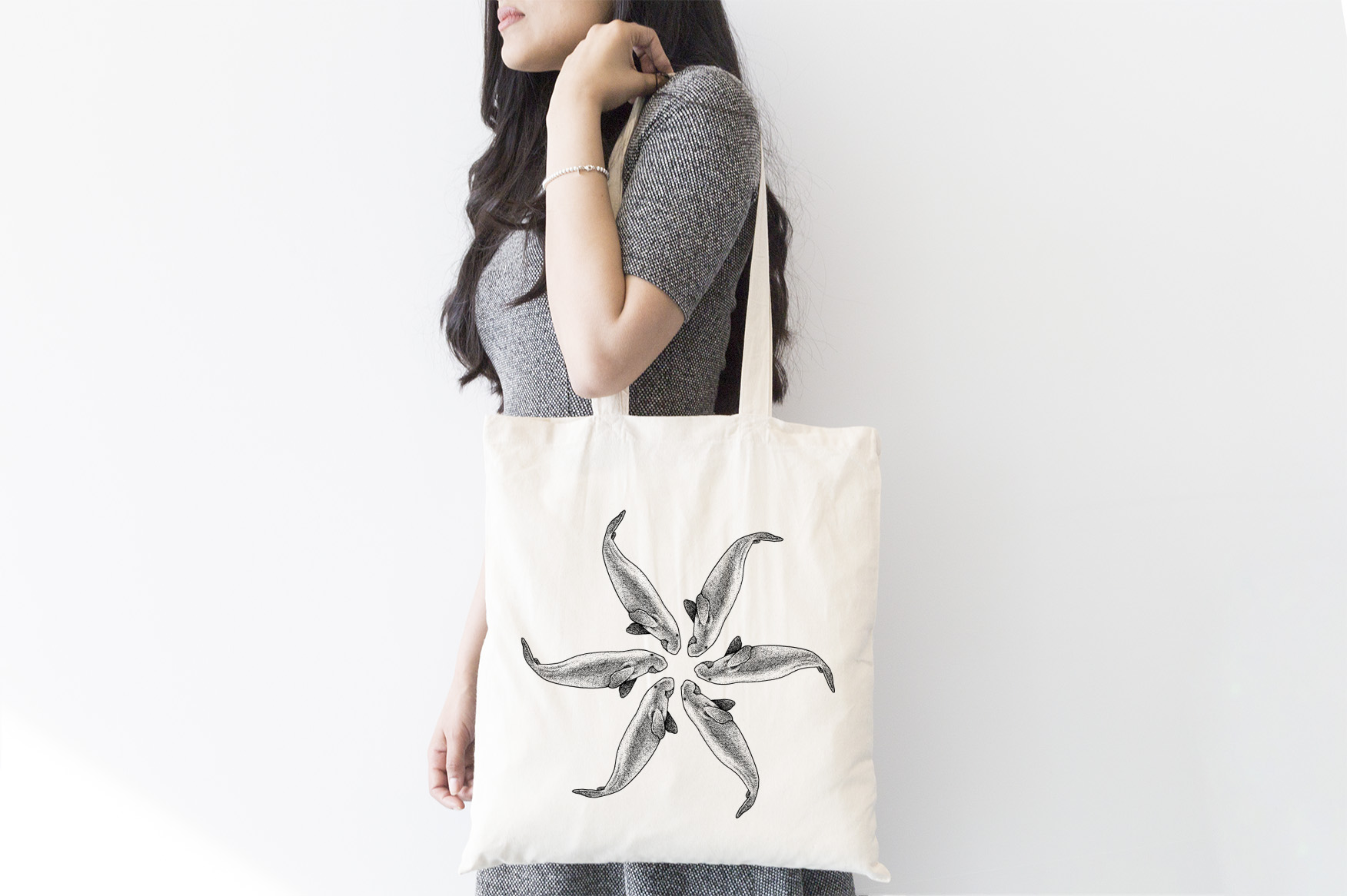 INT9369 Plastic Free July_Tote Bag-Designs_dugong FA1