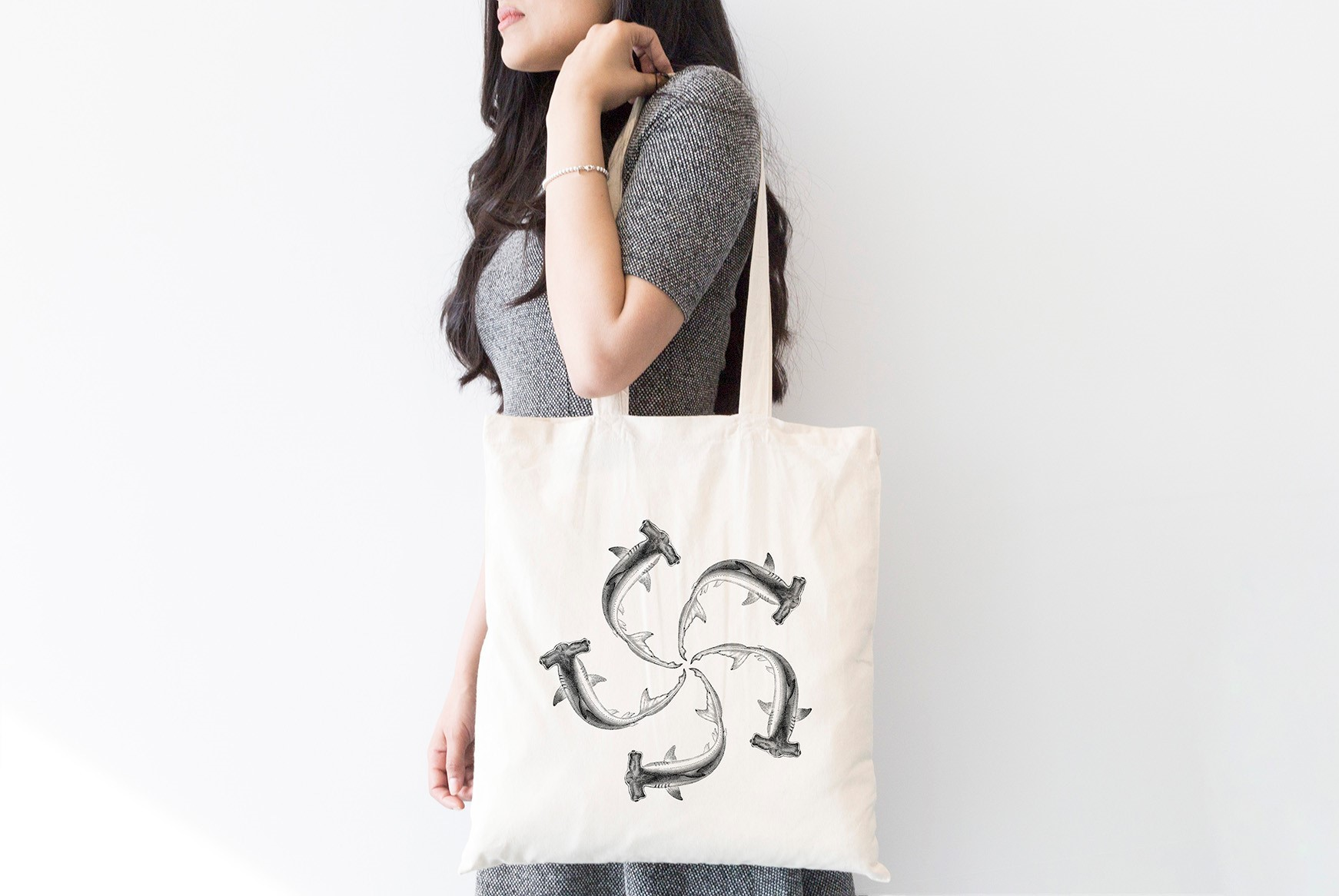 INT9369 Plastic Free July_Tote Bag-Designs_shark FA2 2